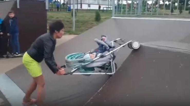 Pijana matka z dzieckiem w skateparku. To nie mogło skończyć się dobrze