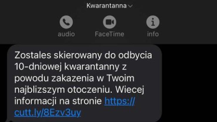 SMS o kwarantannie. Ostrzeżenie przed oszustami