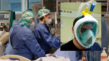 Maski do nurkowania w szpitalach. Pomagają chorym na koronawirusa