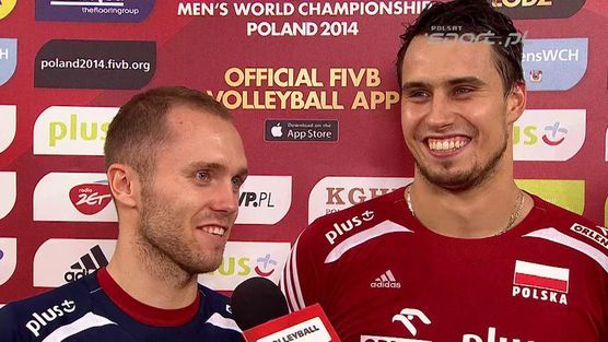 Fabian Drzyzga i Paweł Zatorski po meczu z Rosją