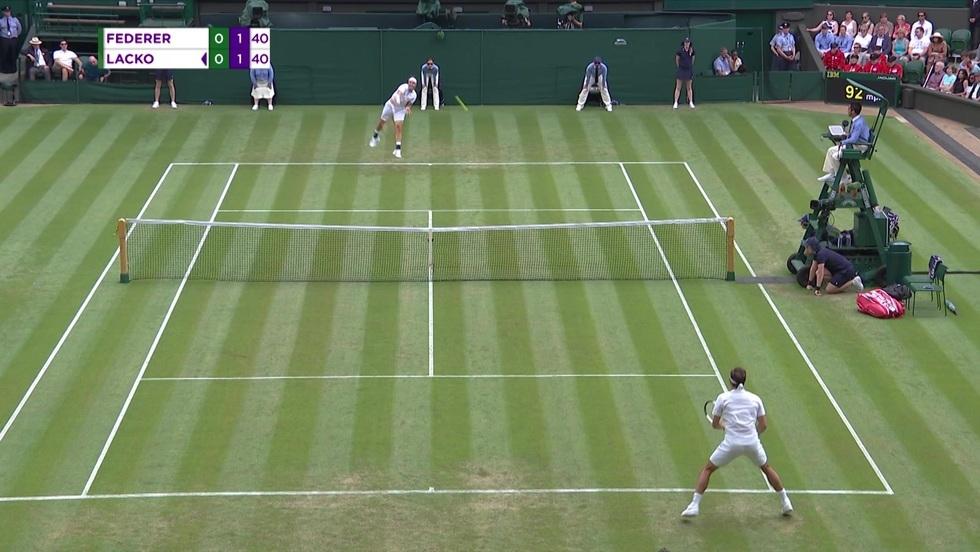 Roger Federer - Lukas Lacko