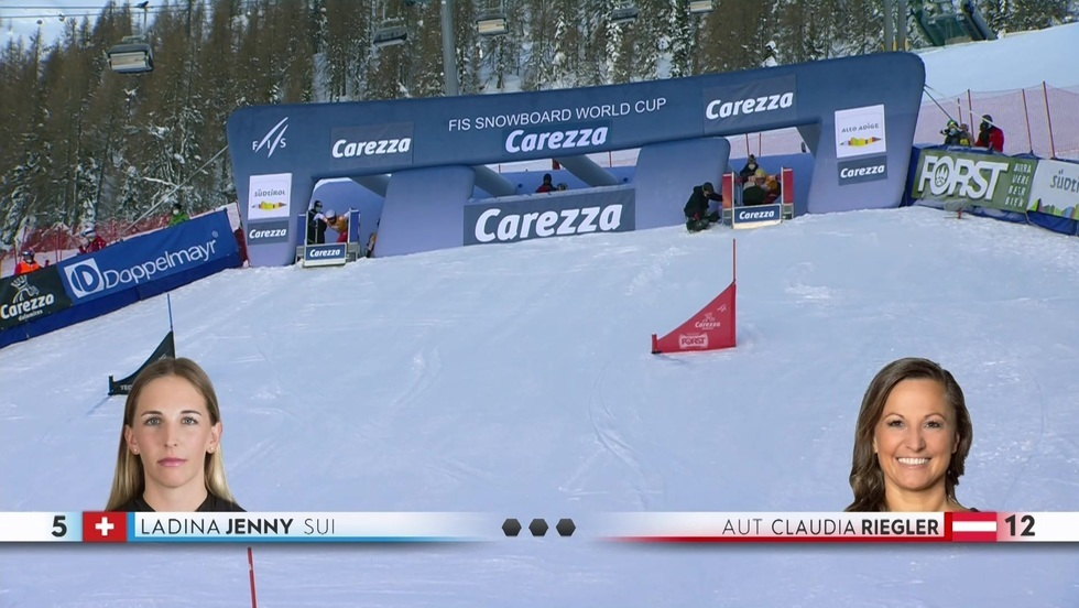 Snowboard Carezza - slalom kobiet i mężczyzn